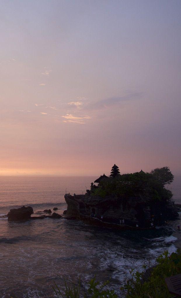 Sunset at Tanah Lot Bali Indonesia