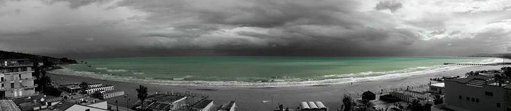 Vasto Marina #sea #beach #sky #city