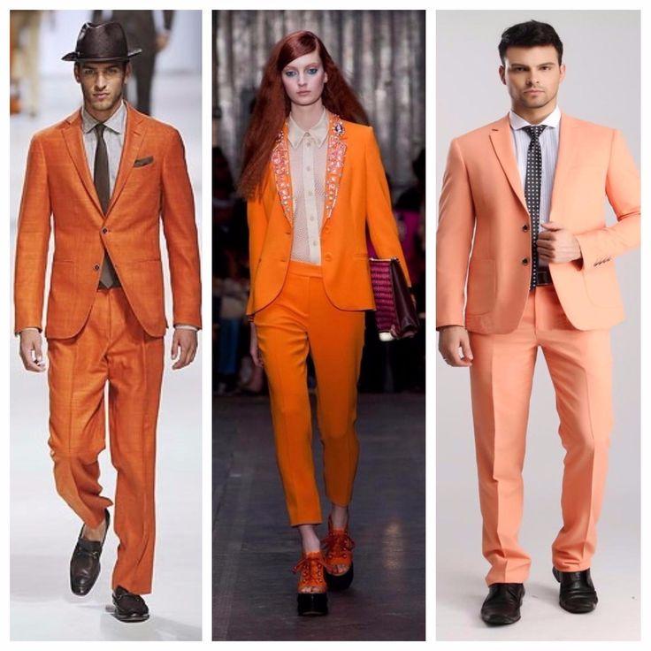 С чем носить оранжевый пиджак? Сочные луки для настроения! 2017