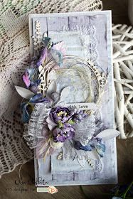 Beautiful card in lavender shades