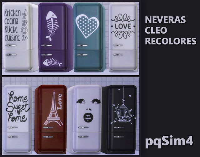 Cleo refrigerator recolors by Mary Jiménez at pqSims4 • Sims 4 Updates