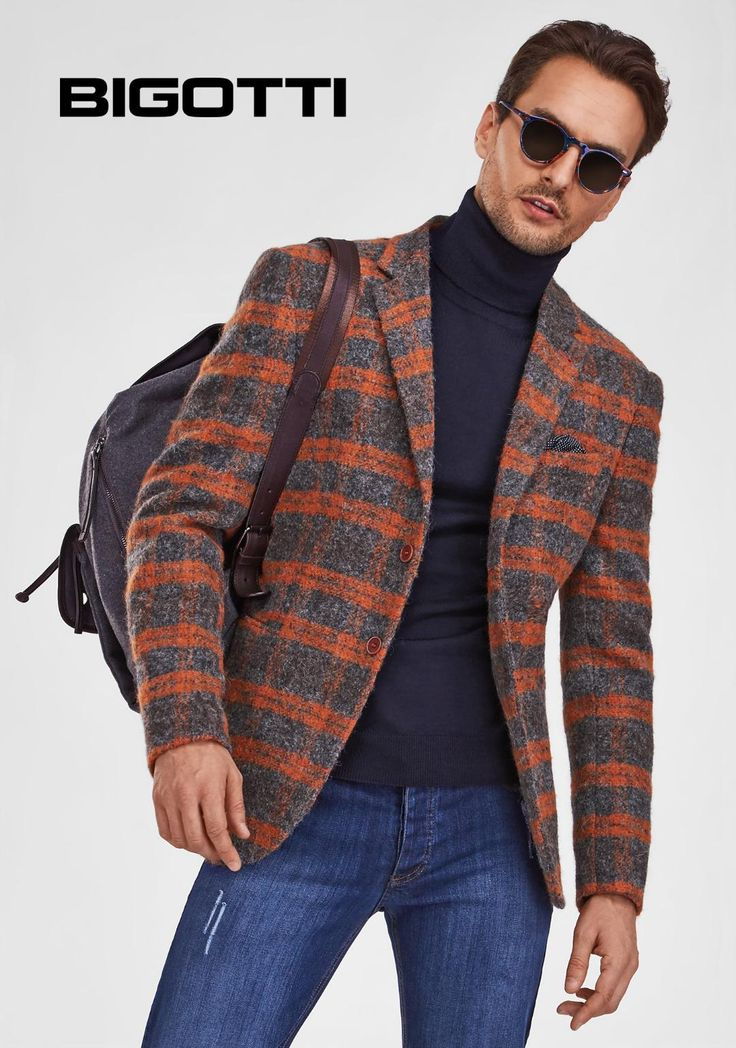 With #prominent #texture and #surprising #colour #combinations, the #new #Bigotti #blazer #provides #casual #sophistication to your #everyday #style.