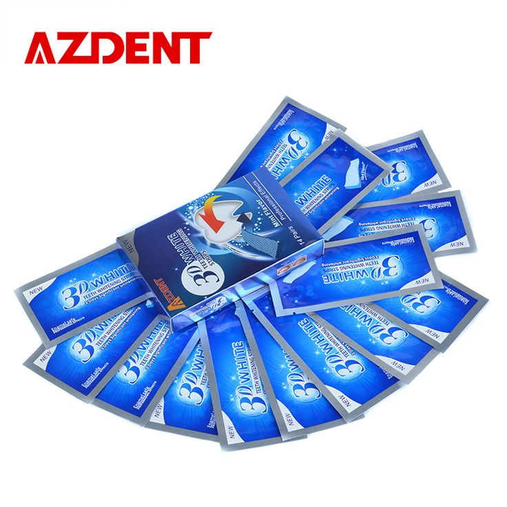 AZDENT Hot 3D Teeth Whitening Strips 28 Strips 14 Pouch Whitestrips Professional Effects Teeth Tooth Whitening Kit Oral Hygiene