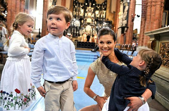 Victoria of sweden.  She is the godmother of europe