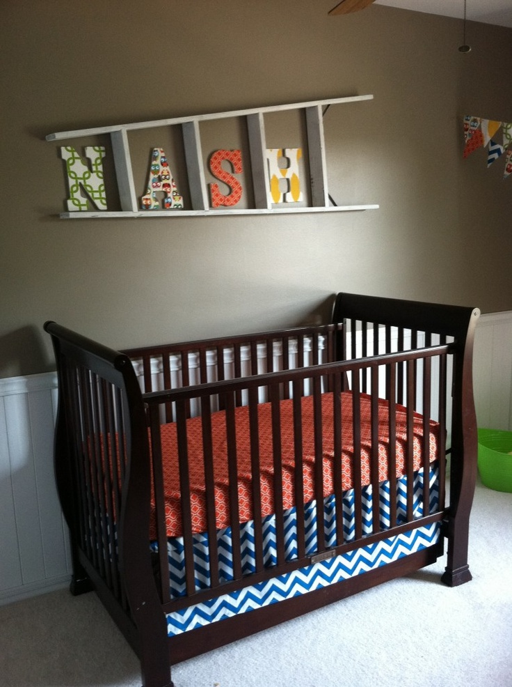 80 best Nursery - Blue & Orange Nursery images on Pinterest | Baby ...