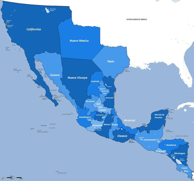Mapa México 1821