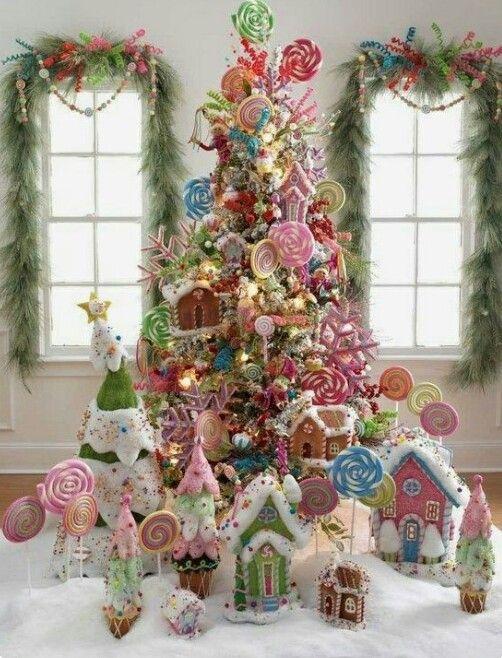 Arbol de navidad decorado de dulces
