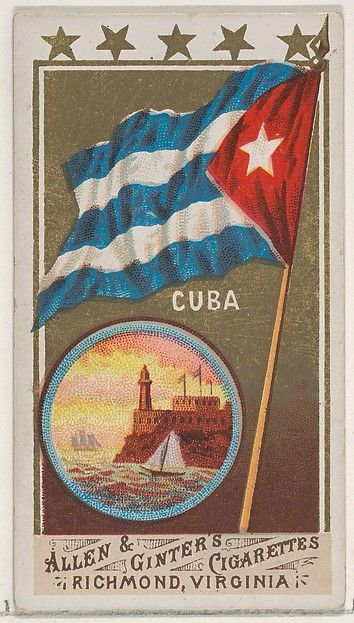 "Cuba, from the ""Flags of All Nations"" series 1 (N9) for Allen & Ginter Cigarettes, c1887."