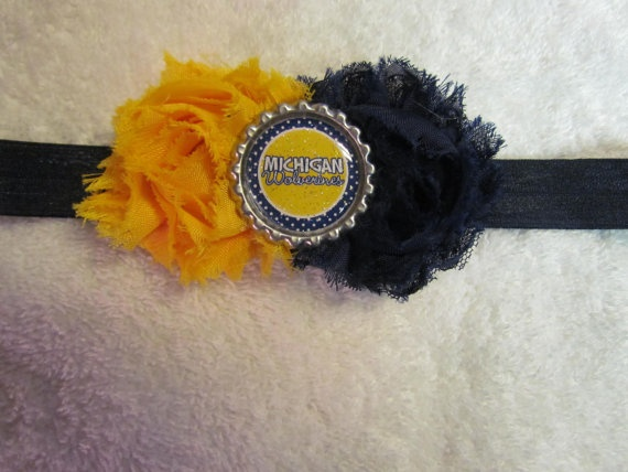 U of M Headband - Go Blue!Go Blue, Umich Crafts, Neat Ideas, Karen Favorite