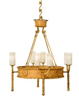 """Montecito 1 Tier Golden Chandelier - 45"""" tall x 39"""" wide - 8 lights - hand-forged, shown in golden white finish featuring gold leafing and white onyx shades. 60W max standard base bulbs. (CH-MontecitoG1)  We currently accept custom orders for chandeliers including custom finishes. Pls contact Jodi Tressler Greene (Las Vegas Design Rep) at (702) 576-8635 or Jodi.Jean.626 @ gmail.com for more info."""