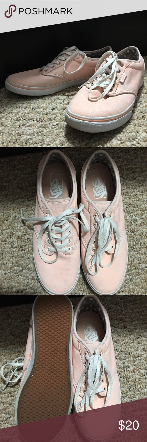 💢FINAL PRICE💢Women's Vans Women's size 7.5 coral Vans worn  a couple times. Does have a two stain spots. *does not come with original box. Vans Shoes Sneakers