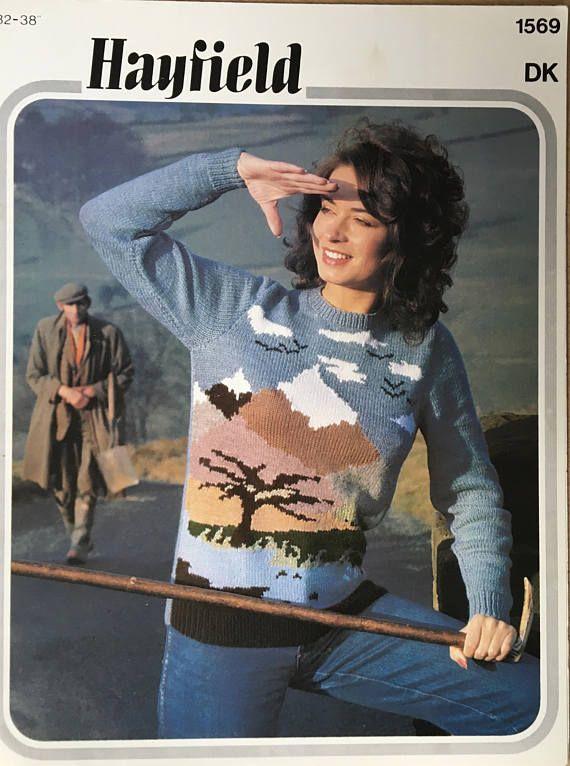 Damen Stricken Muster, Damen Safari Motiv Pullover, Strickmuster ...