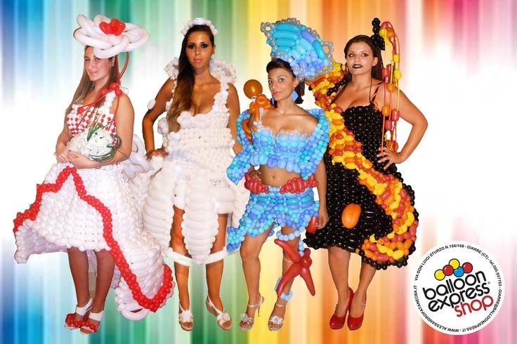Balloon dress, abiti con palloncini # balloon
