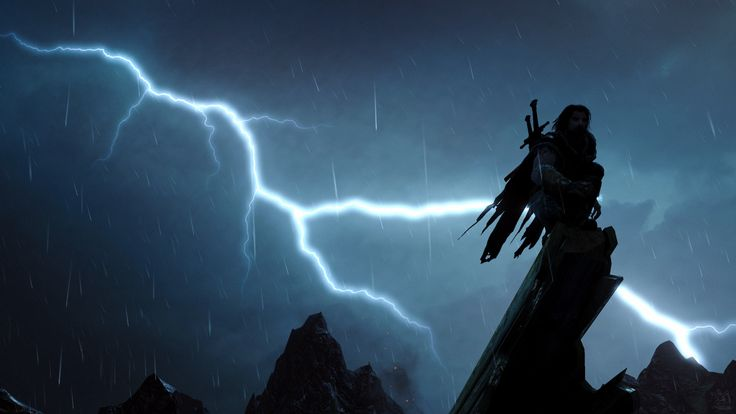Dramatic Vantage Point [4k in-game screenshot from Shadow of Mordor] http://ift.tt/2wnM2wd