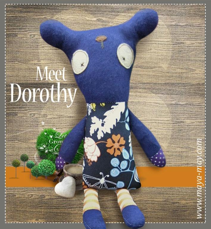 Meet our new plush friend DOROTHY by MM KIDDO!. |Price: AUD18.00 |www.maya-may.com |Enquiries: mayamay24@gmail.com. Text : Angela +61413504255 (Australia) #dolls #plushies #felt #handmade #kids #toys #gifts