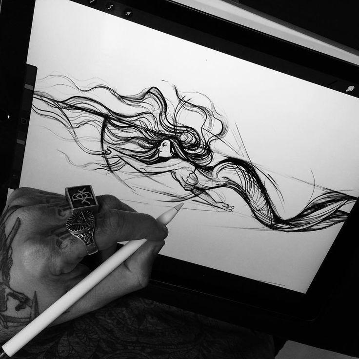 by Bruno Soares.art #sketching #sketchtattoo #tattoo #tattooart #tattoodesign
