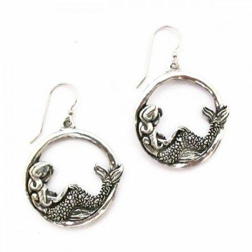Mermaid Hoop Earrings