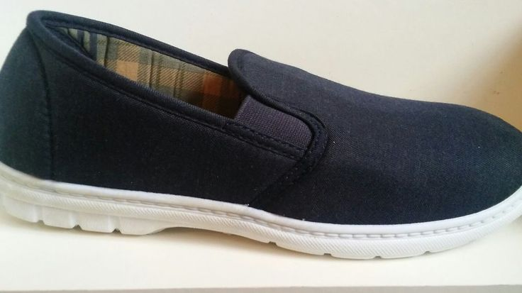 Mens Slip On Canvas Pump Men's Slippers Shoes  UK  sizes 7-12