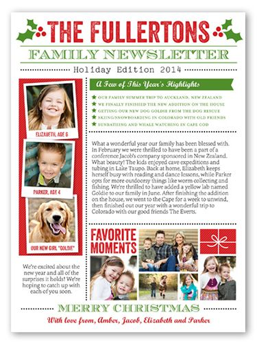 Family Newsletter 6x8 Stationery Card by Stacy Claire Boyd | Shutterfly