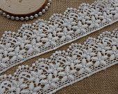 2 metri cotone pizzo in panna con bordo smerlato per abito di pizzo, Quilt, portafoto, asciugamano