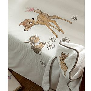 Disney Bambi Baby Cot Bed Quilt | Disney StoreBambi Baby Cot Bed Quilt - They'll feel safe and snug as they drift off to sleep whilst wrapped in this sweet, Bambi baby cot bed quilt. Cream-coloured with embroidered detail.