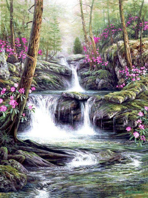 луговой земляники картинки поляна с рекой цветами водопадом выпьем