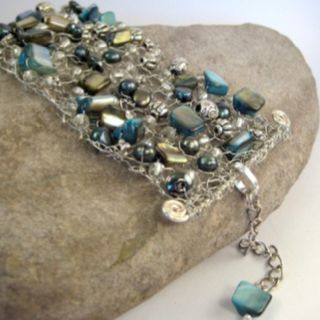 Beautiful wire crochet jewelry