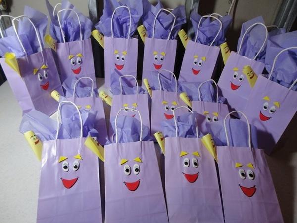 Dora backpack party favor