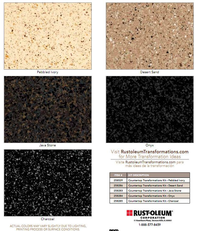 Countertop Paint Chips : Countertops, Rustoleum countertop and Java on Pinterest