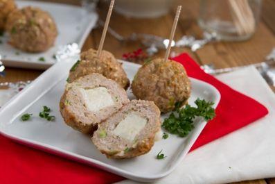 Mozzarella Goat Cheese Stuffed Turkey Meat Balls | Happy Days Goat Dairy - gluten free