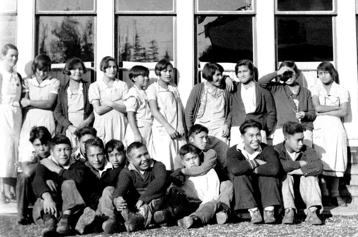 Grades 5 to 8, Ahousaht Indian Residential School, 1936.