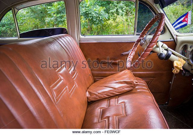 chevrolet seat in cuba - Stock Image