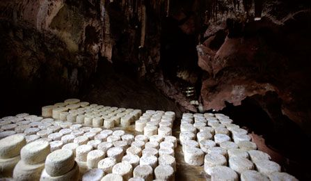 Picón Bejes-Tresviso cheeses are matured in mountain caves.    Cantabria   Spain