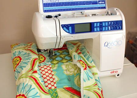 Good tutorial on quilting a quilt on the sewing machine