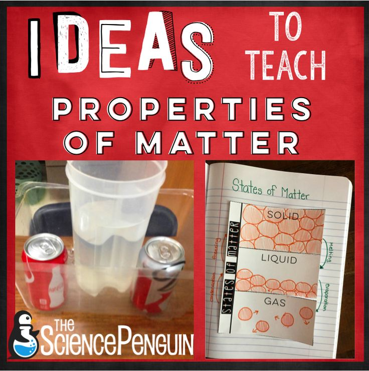 This is a jam-packed post with ideas for teaching your students about eight properties of matter.  Properties of Matter is my FAVORITE content to teach at the beginning of the year because they will use and apply what they learn all year long! 1. Relative Density Demo Relative Density Lab: Will Coke and Diet Coke …
