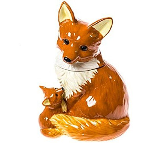 The fox is known as a cunning and curious animal. Well, curious and cunning children of all ages will peak into this decorative ceramic Fox Cookie ...