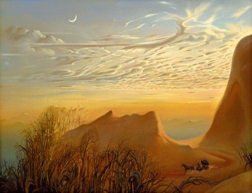 Vladimir Kush is the artist behind these photos and you can see the first part of his work at Surreal pictures. Now available on DVD also: Vladimir Kush Metaphorical Voyage.