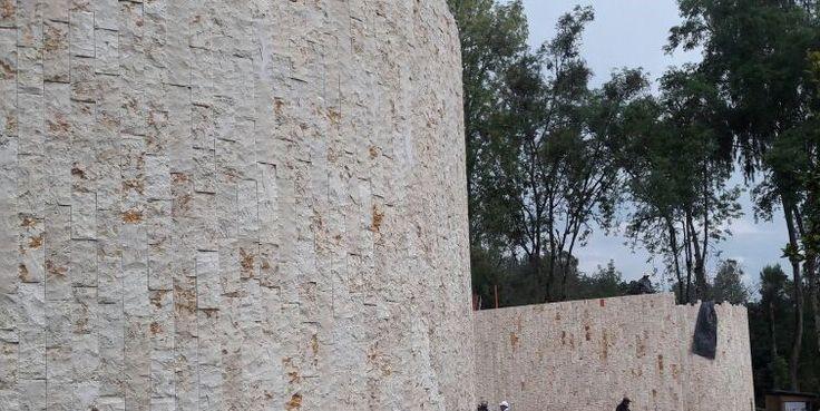 Piedra de enchape arenisca de Egipto, modulación 30 x 60 cm