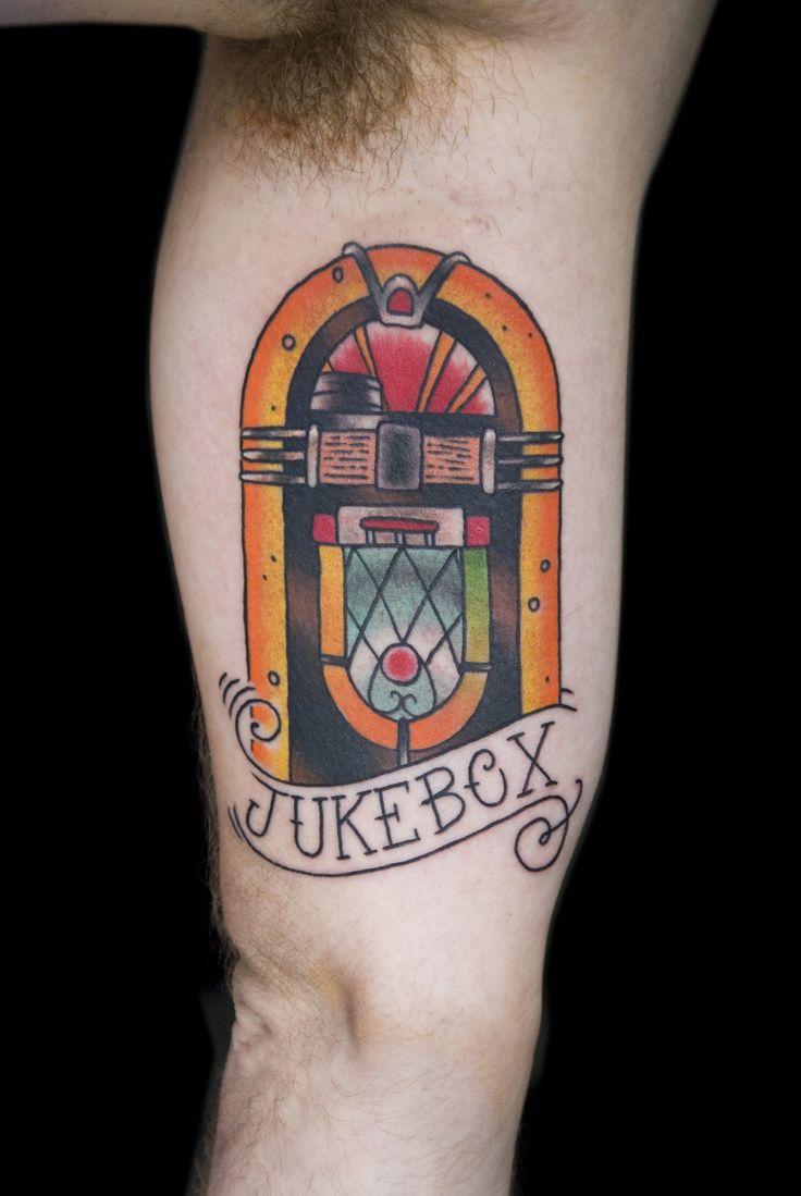 Jukebox traditional americana tattoos pinterest for Traditional americana tattoos