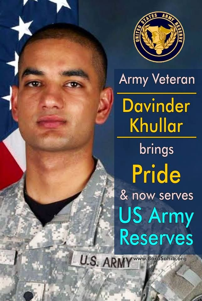 Army Veteran Davinder Khullar brings Pride & now serves US Army Reserves. Read More - http://barusahib.org/general/army-veteran-davinder-khullar-us-army-reserves