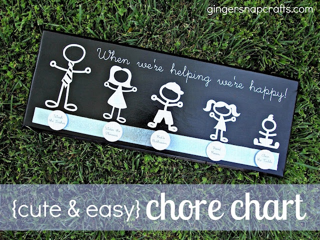 chore chart: Silhouette Projects, Crafts Ideas, Diy Tutorial, Adorable Chore, Easy Chore, Snap Crafts, Gingers Snap, Charts Tutorials, Chore Charts