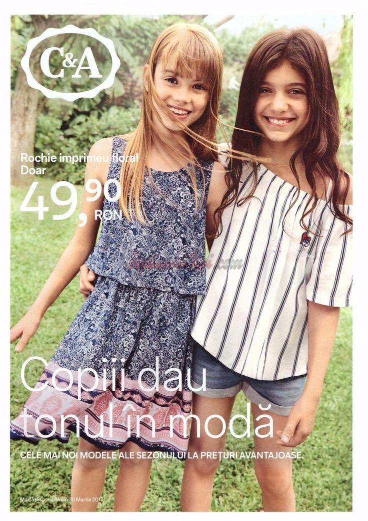 Catalog C&A Moda Copii Primavara - Vara 2017! Oferte si recomandari: rochie dantela pentru fete 69,90 lei; rochie in dungi 39,90 lei; salopeta 69,00 lei