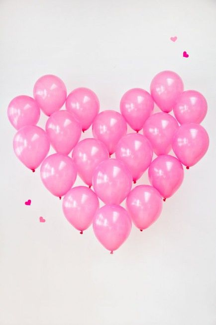 Heart balloons and other ideas.