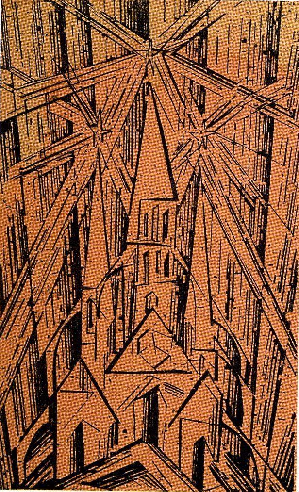 FEININGER. Catedral. (Manifiesto de la Bauhaus, 1919)