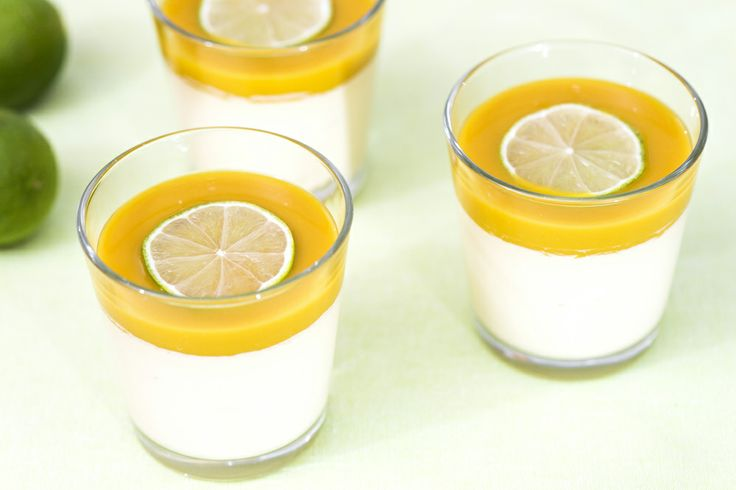 Mangopannacotta – ihastuttavan aurinkoinen jälkkäri! Testaa mutkatonta reseptiä: http://www.dansukker.fi/fi/resepteja/mangopannacotta.aspx #resepti #pannacotta #ohje