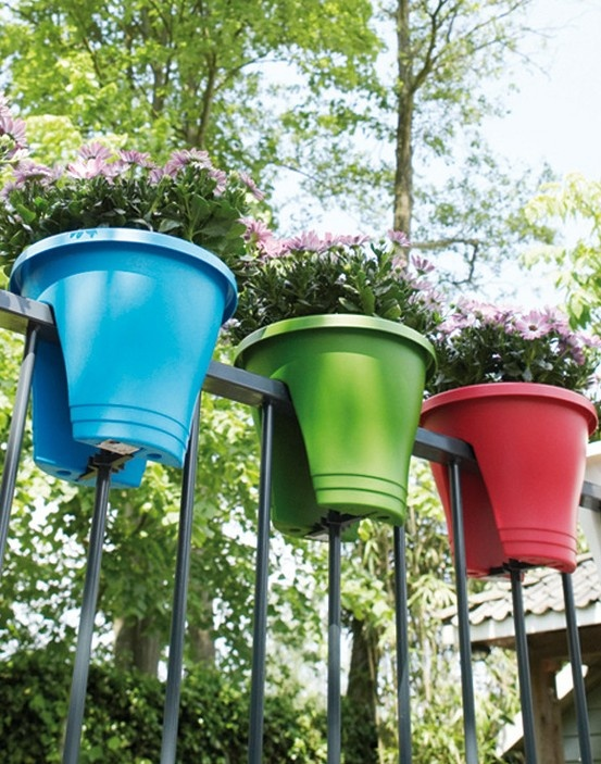 Bridge planters - what a great idea for a deck or railing on a balcony