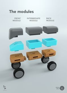 This is my design for a modular toy vehicle made entirely out of wood. I wanted to create a fun toy for kids that like big trucks with big wheels and who also love putting their minds into building them using multiple swappable components.