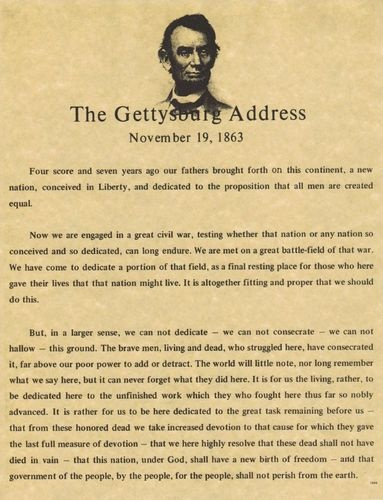 a description of the gettysburg address Ead the passage from the gettysburg address it is rather for us to be here dedicated to the great task remaining before us—that from these honored dead we - 8062112.
