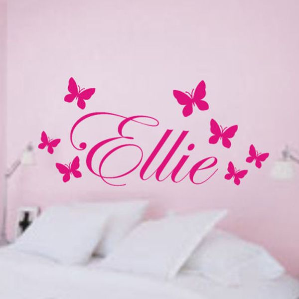 Find More Wall Stickers Information about Personalized Name Vinyl 3d Butterfly Bedroom Wall Decals Stickers Art Wallart  Wall Stickers for Kids Rooms Size 100x50 CM,High Quality sticker sport,China sticker sheet Suppliers, Cheap stickers crocodile from sure life on Aliexpress.com