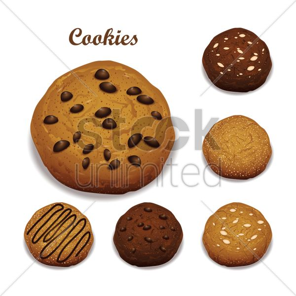 collection of cookies vector graphic